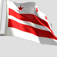 Washington DC City Flag
