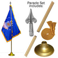 Indoor Air Force Flag Set
