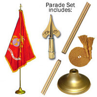 Indoor Marine Corps Flag Set