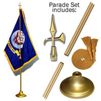 Indoor Navy Flag Set