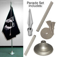 Indoor Pow-Mia Flag Set